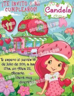 Invitación cumpleaños Tarta de fresa #01-0