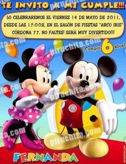 Invitación cumpleaños La Casa de Mickey #11-0