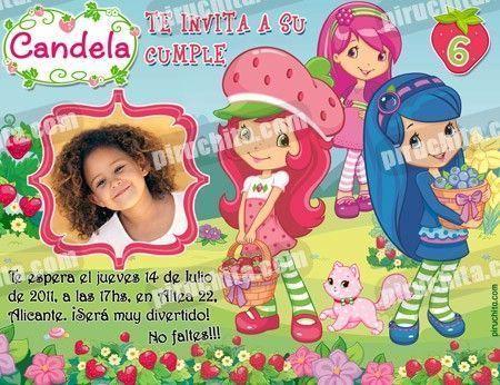 Invitación cumpleaños Tarta de fresa #03-0