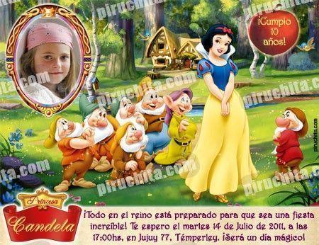 Invitación cumpleaños Blancanieves #09-0