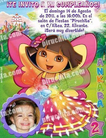 Invitación cumpleaños Dora la Exploradora #12-0