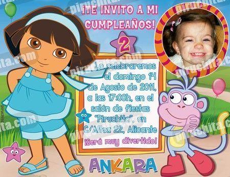 Invitación cumpleaños Dora la Exploradora #09-0