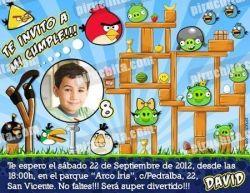 Invitación cumpleaños Angry Birds #01-0