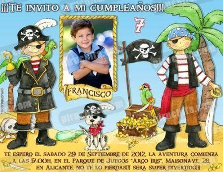 Invitación cumpleaños Piratas #02-0