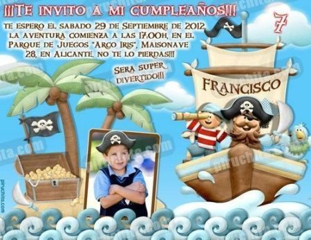 Invitación cumpleaños Piratas #05-0