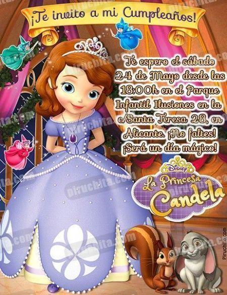 Invitación cumpleaños La Princesa Sofía #11-0