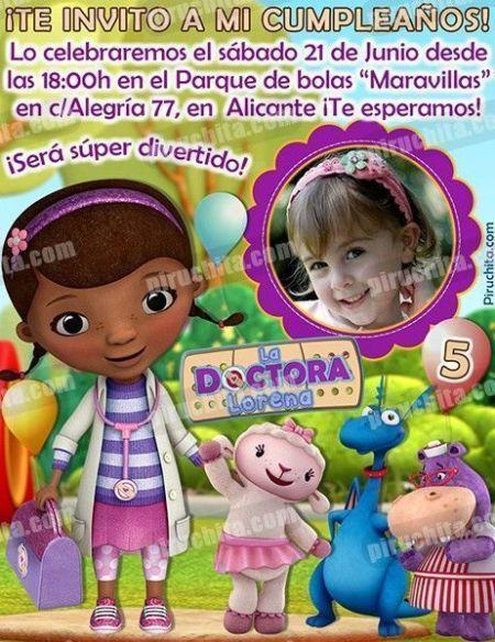 Invitación cumpleaños La Doctora Juguetes #05-0