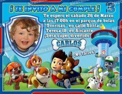 Invitación cumpleaños La Patrulla Canina #02-0