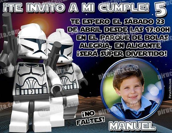 Invitación cumpleaños Lego Star Wars #03-0