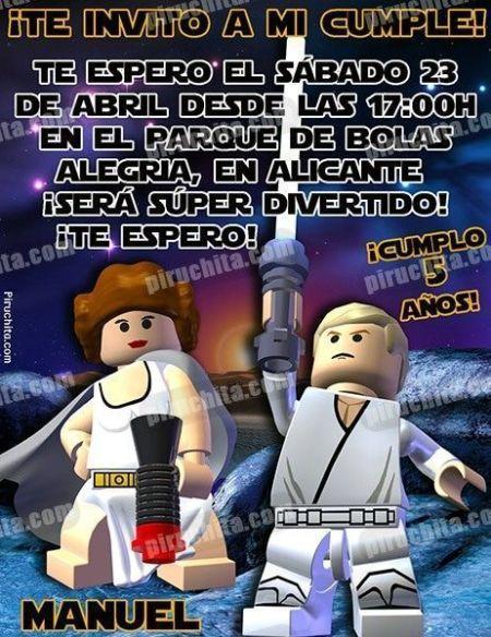 Invitación cumpleaños Lego Star Wars #04-0