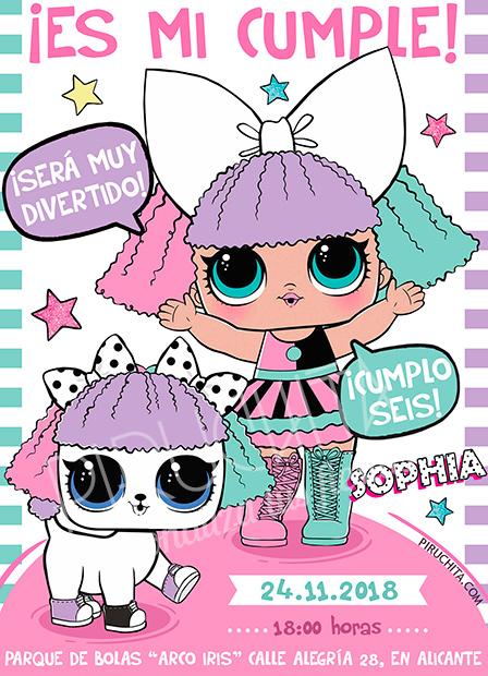 Invitación cumpleaños LOL Surprise Muñecas #01 | Digital Imprimible