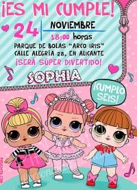 Invitación cumpleaños LOL Surprise Muñecas #02 | Digital Imprimible