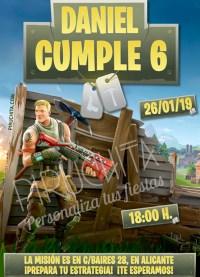 Invitación cumpleaños Fortnite #01 | Digital Imprimible