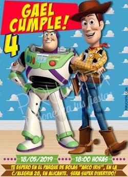 Invitación cumpleaños Toy Story #01   Digital Imprimible