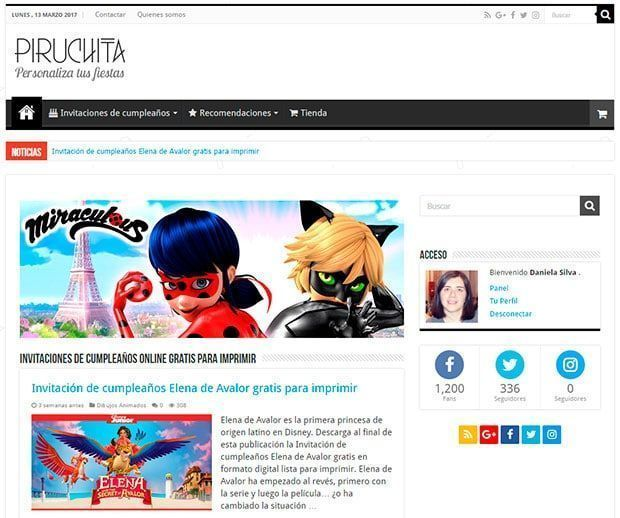 Piruchita en WordPress