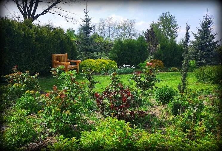 wiosenny ogród zachodni