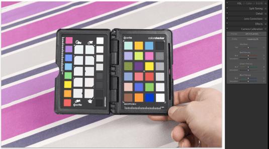 X Rite Color-Checker ustawienia przed korekcja