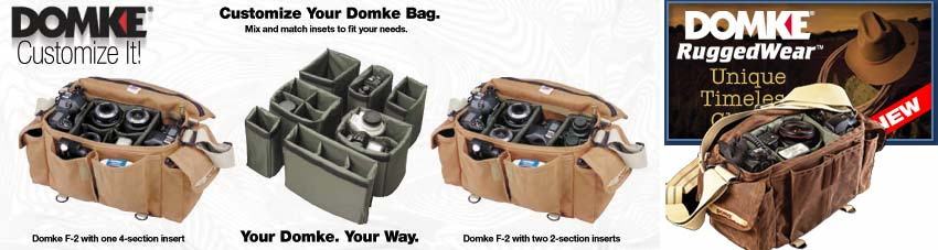 Domke F-3x insert with bags