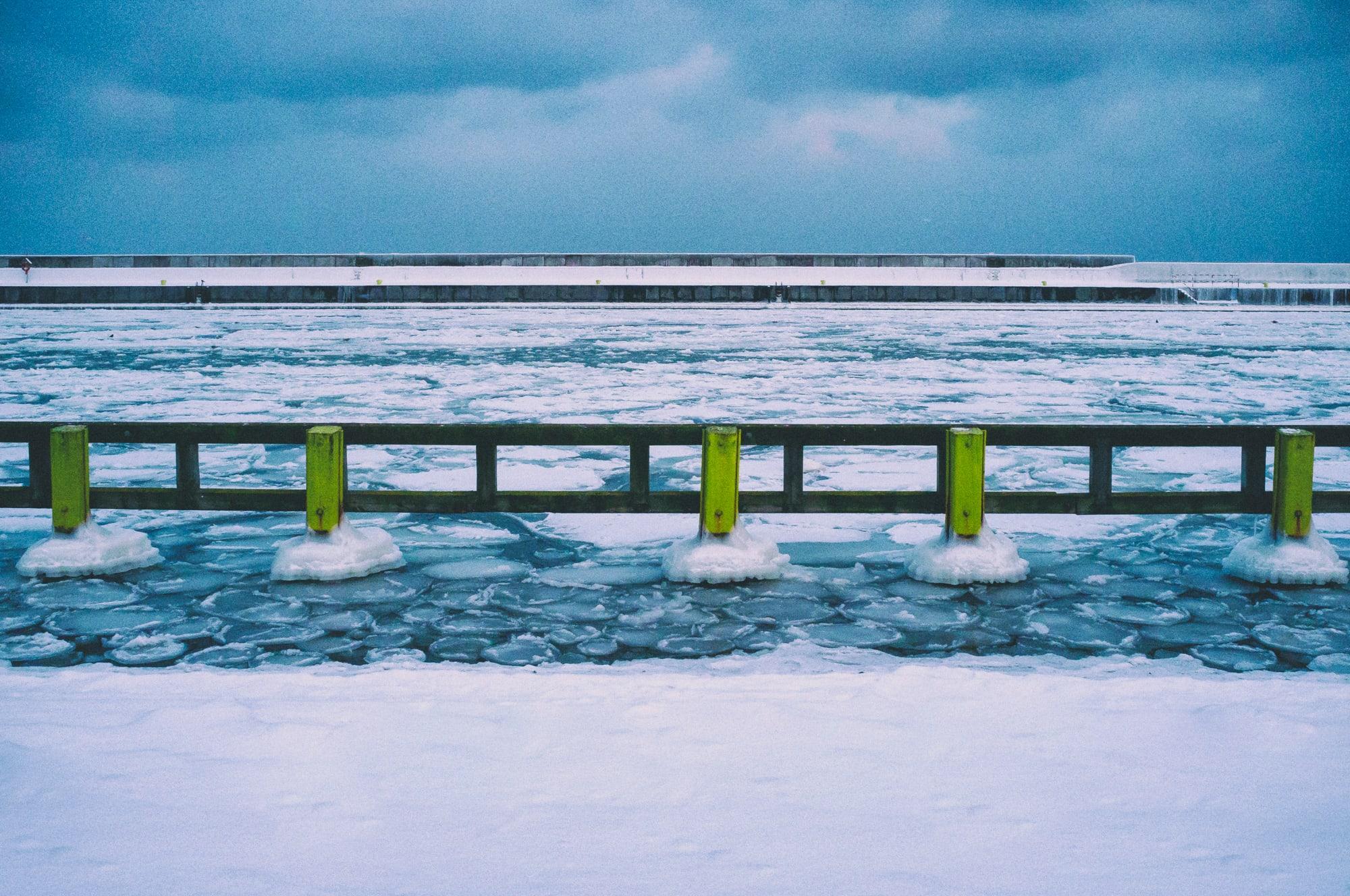 zima morze