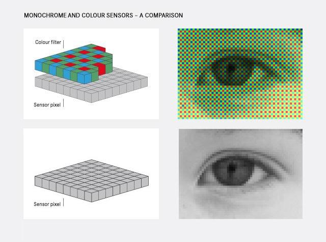 color sensor comparison monochrom sensor