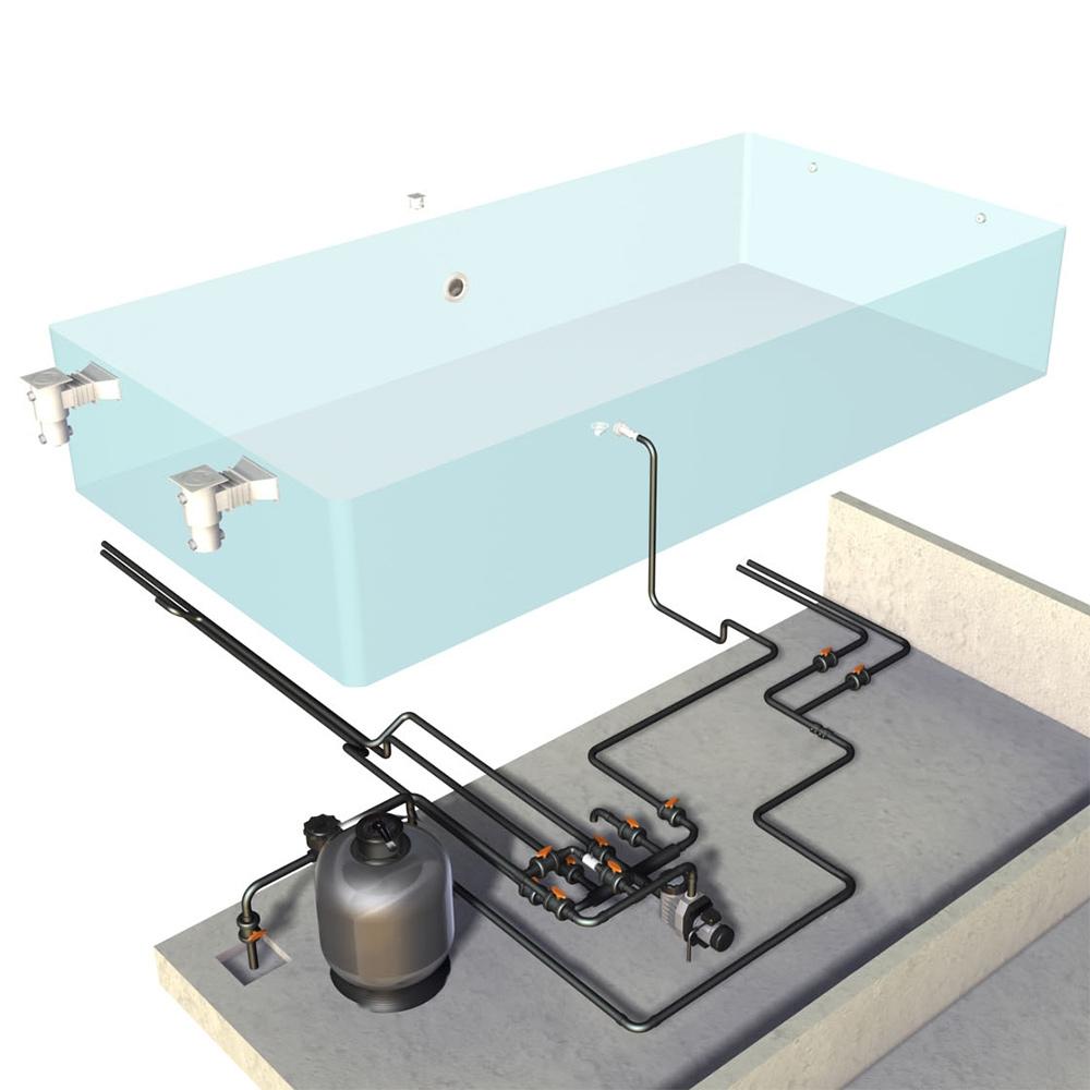 kit d equipement pour piscine de 30m3 sans liner