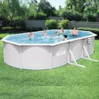 piscine hors sol bestway acier ovale 6 10 x 3 60 x 1 20 m filtre a sable 16354