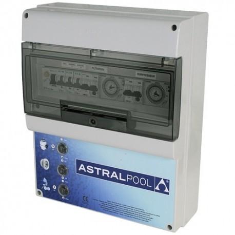 image coffret electrique pour filtration 2 projecteurs et 1 balai