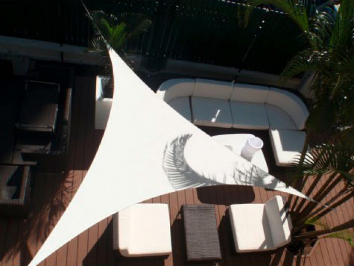 voile d ombrage triangulaire 3 x 3 x 3 m blanc easy sail