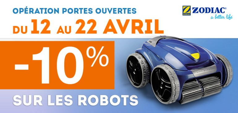 Promotion : – 10% sur les robots Zodiac