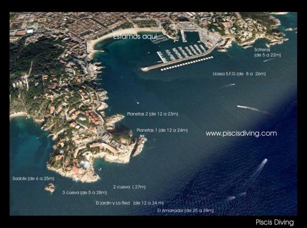 Balizamiento Port Salvi. Sant Feliu De Guixols.