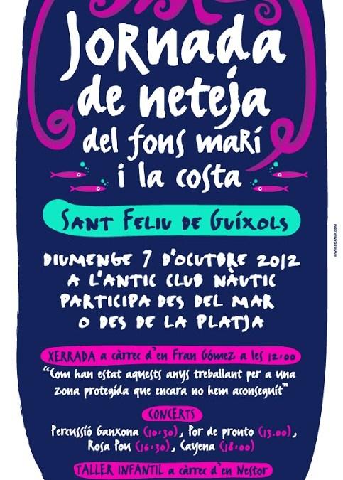 Limpieza de fondos,    Sant Feliu de Guixols 2012