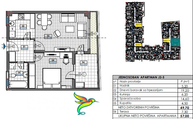tivat residence jednosoban 57
