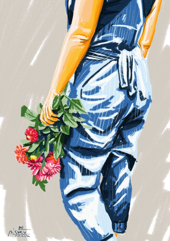 """Coi fiori in mano"" by Piskv_Digital Art"