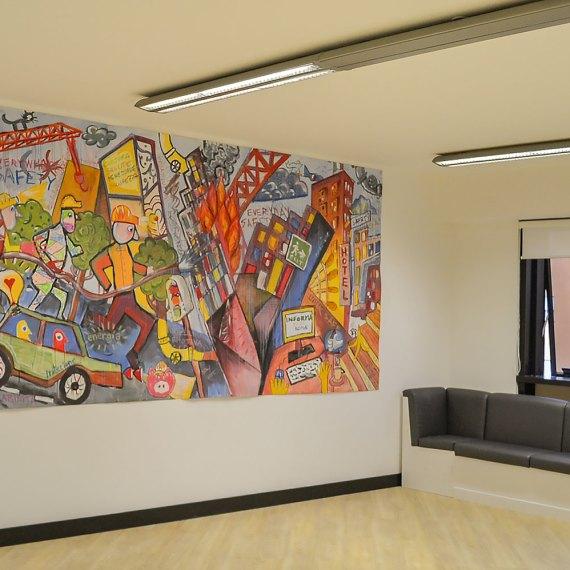 street art in azienda - Piskv x Informa srl