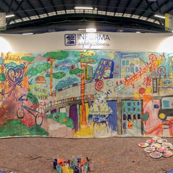 street art in azienda - Piskv x Informa srl - Safety Expo Bergamo