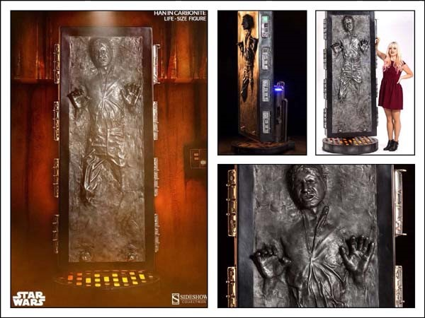 Star wars life size han solo in carbonite pissed off geek star wars han solo carbonite colourmoves