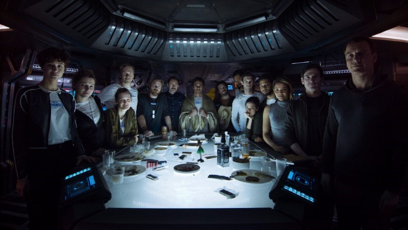 Alien: Covenant – Meet the Covenant as They Take Their Last Supper
