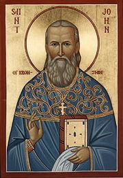 Icona di San Giovanni di Cronstadt