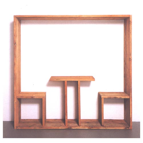 'Lunch Painting,' 1965, wood, cm 200 x 200 x 50