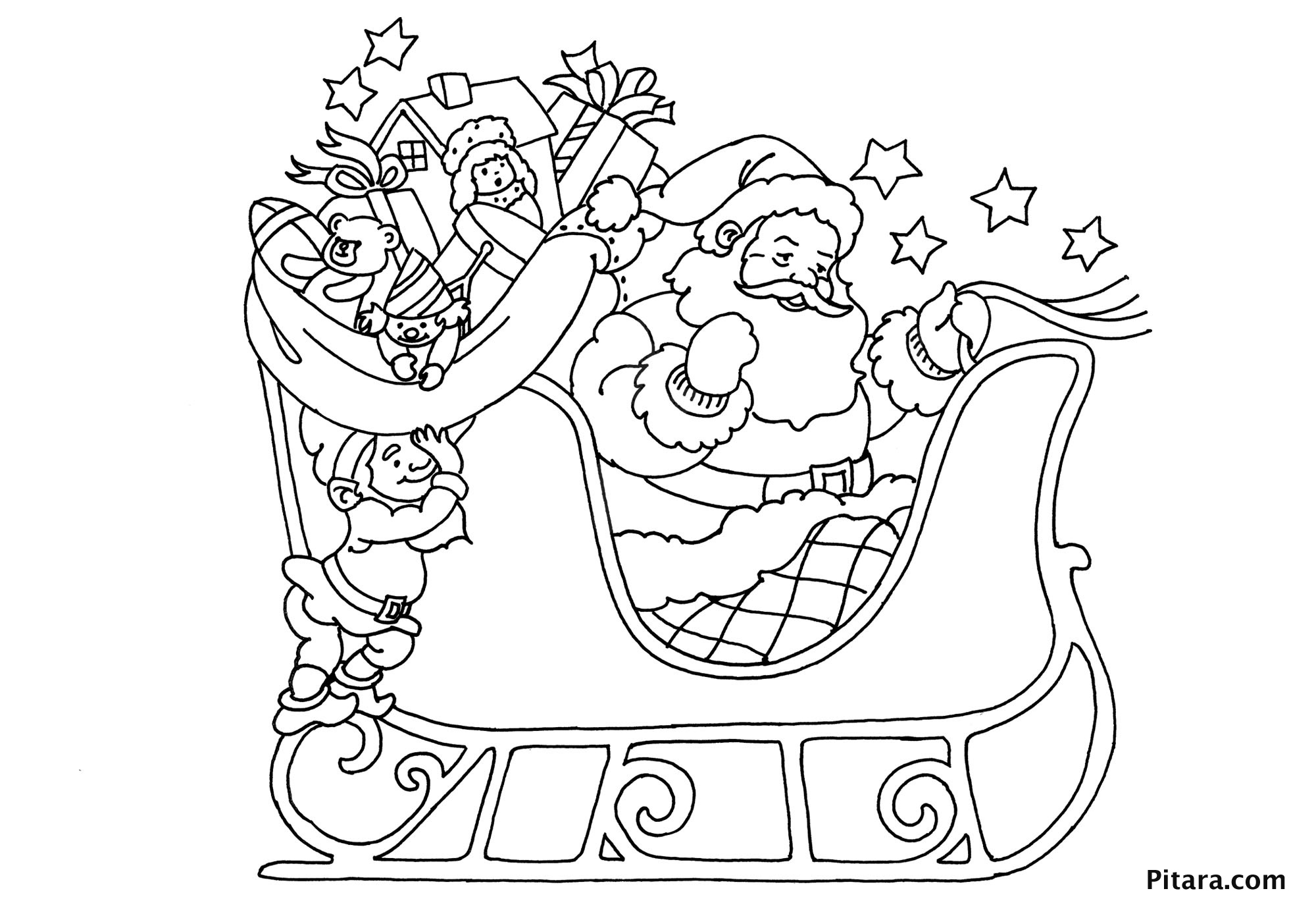 Santa Claus On Sleigh