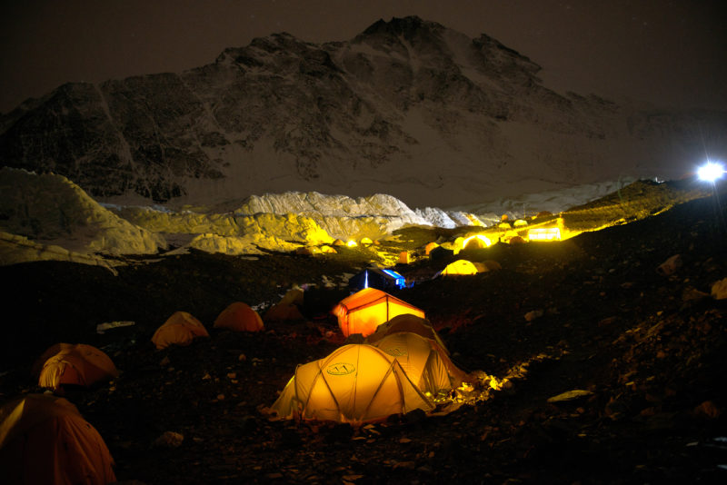DSC_6096_Advanced basecamp (6400 m) at night. Copyright Dave Ohlson_50percent