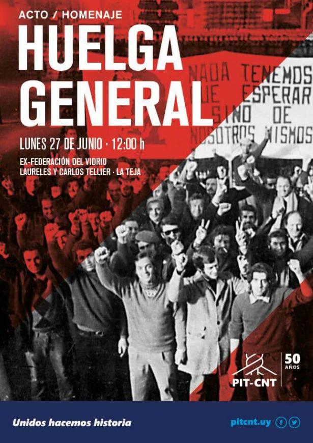 afiche Huelga general