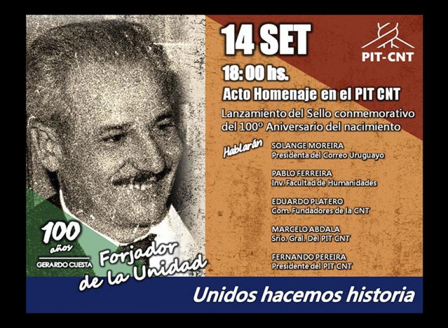 """Homenaje a Gerardo Cuesta: """"Forjador de unidad"""""""