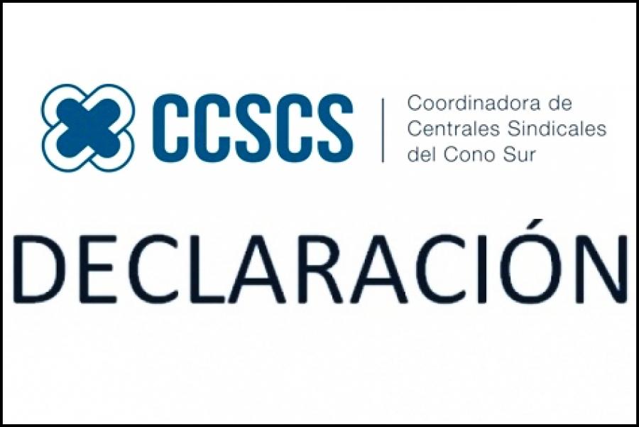 Coordinadora de Sindicatos del Cono Sur apoyan presidencia de Venezuela en el Mercosur
