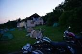 Blick vom Camping zum Berggasthof