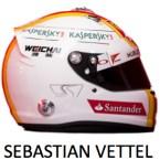 Sebastian Vettel helment - 2015 - F1 - Ferrari