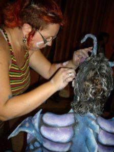 Caracterización, Body painting y Peluquería