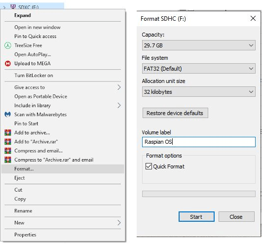 Format SD with windows Tool