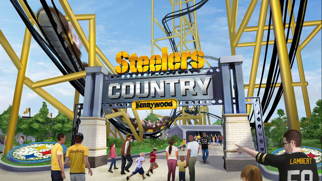 New Coaster at Kennywood – You're in Steelers Country