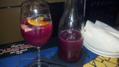 Pitcher of red sangria at Kaya